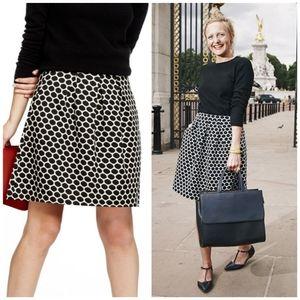 Boden Jersey Jacquard Polka Dot Skirt US Size 10R